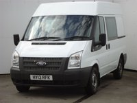 USED 2013 13 FORD TRANSIT 2.2 280 DCB 1d 124 BHP FACTORY REAR SEATS, 2 OWNERS WITH SERVICE HISTORY, NO VAT TO BE ADDED