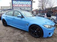 2016 BMW M3 3.0 M3 4d AUTO 426 BHP £36995.00