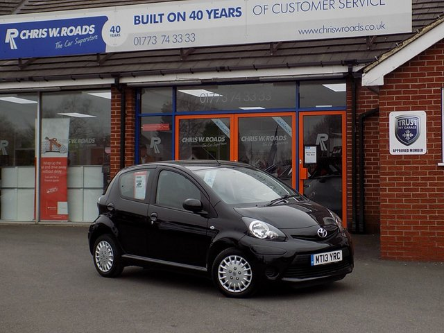 USED 2013 13 TOYOTA AYGO 1.0 VVT-I ICE MM 5d 68 BHP ** FSH (4 STAMPS) + ONLY 29000 Miles **