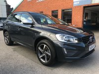 USED 2014 64 VOLVO XC60 2.4 D4 R-DESIGN AWD 5d 178 BHP Full service and MOT when sold, R-Design steering wheel,   R-Design contrasting leather upholstery,   Bluetooth,   DAB radio