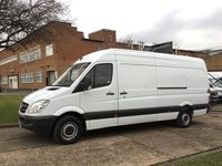 USED 2013 63 MERCEDES-BENZ SPRINTER 2.1 313CDI LWB HIGH ROOF 130BHP. LOW 107,000 MILES. 1 OWNER FSH. LOW RATE FINANCE. PX WELCOME