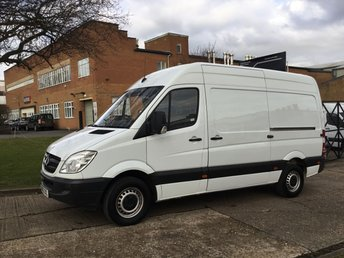 2013 MERCEDES-BENZ SPRINTER 2.1 313CDI MWB HIGH ROOF 130BHP. 1 OWNER. FULL SERVICE. £5850.00