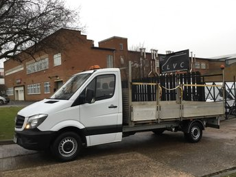 2015 MERCEDES-BENZ SPRINTER 2.1 313CDI DROPSIDE 130BHP LWB FLATBED. NEW SHAPE. 13FT 6'' ALLOY BODY £10990.00