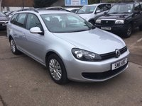 USED 2011 11 VOLKSWAGEN GOLF 1.6 S TDI 5d 103 BHP LOW MILEAGE DIESEL ESTATE WITH SERVICE HISTORY