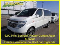 2002 NISSAN ELGRAND XL 3.5 Auto Seat with Leather,Sunroof and Power Curtains. £6000.00