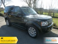 "USED 2012 12 LAND ROVER DISCOVERY 3.0 4 SDV6 HSE 5d AUTO 255 BHP Fantastic High Spec Land Rover Discovery 4 HSE Automatic with One Previous Owner, Sat-Nav, Glass Sunroof, Full Leather, Climate, Cruise, 19"" Alloys and Service History."