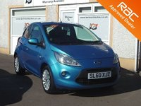 USED 2010 60 FORD KA 1.2 ZETEC 3d 69 BHP 4 service stamps , Heated windscreen , Aux & A/C