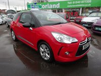 USED 2012 12 CITROEN DS3 1.6 E-HDI DSTYLE 3d 90 BHP **£0 ROAD TAX....FINANCE AVAILABLE**