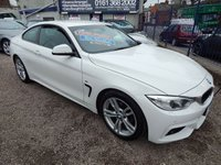 "USED 2014 14 BMW 4 SERIES 2.0 420D M SPORT 2d AUTO 181 BHP BLACK LEATHER INTERIOR, COLOUR SAT NAV, 18"" ALLOYS, GREAT SPEC CAR"