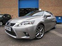 2015 LEXUS CT 1.8 200H ADVANCE PLUS 5d AUTO 134 BHP £16995.00