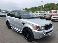USED 2007 07 LAND ROVER RANGE ROVER SPORT 2.7 TDV6 SPORT HSE 5d 188 BHP Silver, Black roof, 20 inch alloys, Supercharged grills, supplied by ourselves
