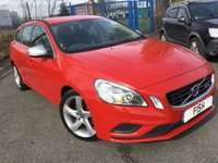 USED 2012 12 VOLVO V60 1.6 DRIVE R-DESIGN S/S 5d 113BHP 2KEYS+FSH+SPORTS SEATS+CLIMATE