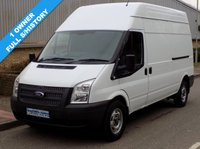 USED 2013 13 FORD TRANSIT 2.2 FWD 350 LWB HIGH ROOF 125 BHP 6 SPEED 1 Owner, Full Service History