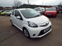 USED 2013 63 TOYOTA AYGO 1.0 VVT-I MOVE WITH STYLE 3d 68 BHP SERVICE HISTORY