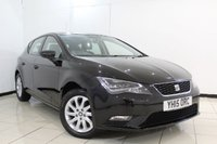 USED 2015 15 SEAT LEON 1.6 TDI SE TECHNOLOGY 5DR 105 BHP FULL SERVICE HISTORY + SAT NAVIGATION + BLUETOOTH + CRUISE CONTROL + MULTI FUNCTION WHEEL + 16 INCH ALLOY WHEELS
