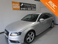 USED 2011 61 AUDI A4 2.0 AVANT TDI S LINE SPECIAL EDITION 5d AUTO 141 BHP FULL AUDI SERVICE HISTORY CAMBELT CHANGED AT 78K