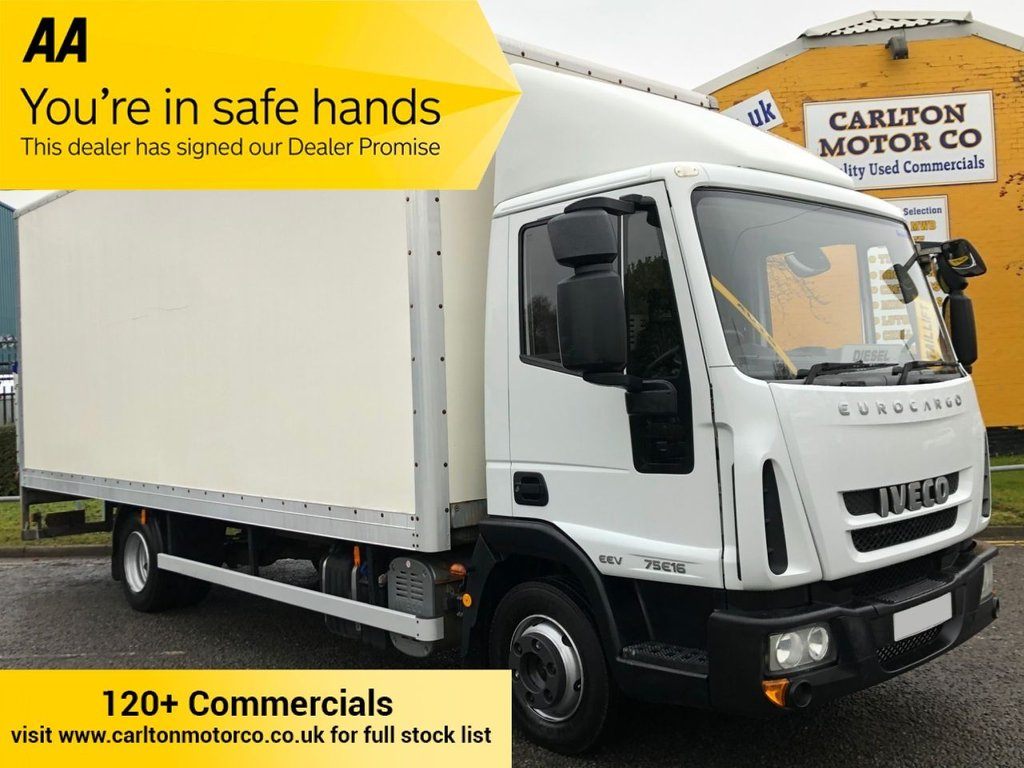 USED 2013 13 IVECO EUROCARGO 75E16S EEV AUTO BOX VAN +T/LIFT GRP 19ft BODY 4