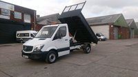 USED 2016 65 MERCEDES-BENZ SPRINTER 2.1 313 CDI C/C MWB 1d 129 BHP TIPPER  1 OWNER F/S/H 3 KEYS  /// FREE 12 MONTHS WARRANTY COVER////