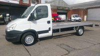 USED 2013 13 IVECO DAILY 2.3 35S11 1d 106 BHP CAR TRANSPORTER WITH A 15 ft NEW ALLOY BACK //// FREE 12 MONTHS WARRANTY COVER ///
