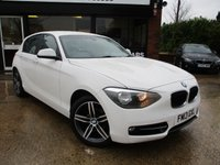 2013 BMW 1 SERIES 2.0 116D SPORT 5d 114 BHP £9500.00
