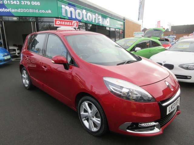 USED 2013 13 RENAULT SCENIC 1.6 DYNAMIQUE TOMTOM ENERGY DCI S/S 5d 130 BHP **JUST ARRIVED ** NO DEPOSIT DEALS