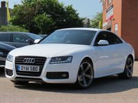 USED 2011 61 AUDI A5 2.0 TDI S LINE BLACK EDITION 2d 168 BHP SATELLITE NAVIGATION, BANG + OLUFSEN SOUND + HEATED SEATS