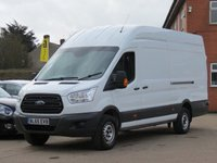 USED 2015 65 FORD TRANSIT 2.2 350 H/R P/V 1d 124 BHP NO VAT TO PAY, ONE OWNER FROM NEW, FULL SERVICE HISTORY