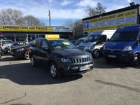 USED 2013 63 JEEP COMPASS 2.4 NORTH 5 DOOR AUTOMATIC 168 BHP IN MET GREY WITH ONLY 26000 MILES APPROVED CARS ARE PLEASED TO OFFER THIS   JEEP COMPASS 2.4 NORTH 5 DOOR AUTOMATIC 168 BHP IN MET GREY WITH ONLY 26000 MILES FROM NEW WITH A FULL SERVICE HISTORY,THIS 4X4 JEEP IS IN STUNNING CONDITION INSIDE AND OUT WITH HALF LEATHER INTERIOR.