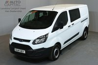 USED 2014 14 FORD TRANSIT CUSTOM 2.2 290 DCB 99 BHP L2 H1 LWB LOW ROOF 6 SEATER COMBI VAN ONE OWNER FROM NEW, SERVICE HISTORY