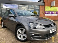 2014 VOLKSWAGEN GOLF 1.6 MATCH TDI BLUEMOTION TECHNOLOGY 5d 103 BHP £10395.00