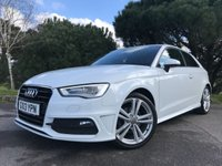 USED 2013 13 AUDI A3 2.0 TDI S LINE 3d 148 BHP S-LINE!! GREAT SPEC!! IBIS WHITE!! ONE OWNER FROM NEW!!