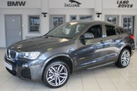 USED 2016 16 BMW X4 2.0 XDRIVE20D M SPORT 4d AUTO 188 BHP FULL BLACK LEATHER SEATS + FULL BMW SERVICE HISTORY + SAT NAV + XENON HEADLIGHTS + BLUETOOTH + 19 INCH ALLOYS + HEATED FRONT SEATS + DAB RADIO + REAR PARKING SENSORS + CRUISE CONTROL