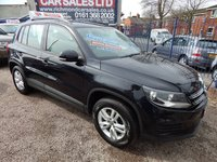USED 2013 13 VOLKSWAGEN TIGUAN 2.0 S TDI BLUEMOTION TECHNOLOGY 5d 138 BHP BLUETOOTH, SERVICE HISTORY, ALLOYS, DAB RADIO