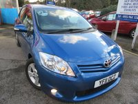 USED 2011 11 TOYOTA AURIS 1.6 TR VALVEMATIC 5d 132 BHP one owner