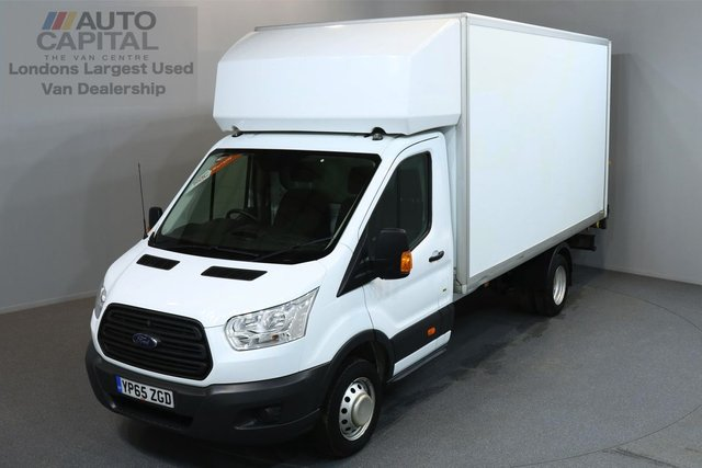 2015 65 FORD TRANSIT 2.2 350 C/C DRW 3d 124 BHP EXTRA LWB REAR TAIL LIFT FITTED LUTON VAN ONE OWNER FROM NEW