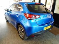 USED 2015 15 MAZDA 2 1.5 SPORT NAV 5d 113 BHP This new shape Mazda 2 is finished in electric blue Metallic with Black/red cloth seats. It is fitted with power steering, Mazda Navigation/phone/park assist/lane departure warning system/cruise control/ start stop technology/ remote locking, electric windows and mirrors, air conditioning, USB/ Aux port and more. It comes with a Mazda service history, done @ 12251/24935/37787 miles and its MOT is until 02/03/2019. We will supply the car with a service & 6 months warranty.
