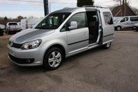 2013 VOLKSWAGEN CADDY MAXI 1.6 C20 LIFE TDI 5d 101 BHP  with WHEEL CHAIR ACCESS RAMP £12295.00