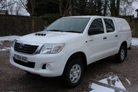 USED 2014 14 TOYOTA HI-LUX 2.5 ACTIVE 4X4 D-4D DCB 1d 142 BHP