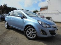 USED 2014 64 VAUXHALL CORSA 1.2 EXCITE AC 3d 83 BHP ***BEAUTIFUL BABY BLUE***