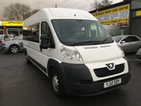 USED 2012 12 PEUGEOT BOXER 2.2 HDI 435 L3H2 4 DOOR 130 BHP IN WHITE WITH 8 SEATS AND WHEEL CHAIR ACCESS. APPROVED CARS ARE PLEASED TO OFFER THIS  PEUGEOT BOXER 2.2 HDI 435 L3H2 4 DOOR 130 BHP IN WHITE WITH 8 SEATS AND WHEEL CHAIR ACCES TO THE REAR .THIS MINIBUS HAS BEEN PURPOSE BUILT FOR WHEELCHAIR ACCESS AND IS IN NLOVELY CONDITION WITH BLACKED OUT PRIVACY GLASS WINDOWS AND REAR RAMP WITH A FULL SERVICE HISTORY...AND THE CHEAPEST OF ITS KIND IN THE COUNTRY AT £8500 PLUS VAT.