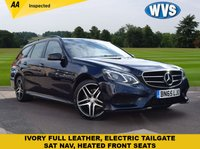 USED 2015 65 MERCEDES-BENZ E CLASS 2.1 E220 BLUETEC AMG NIGHT EDITION 5d AUTO 174 BHP A stunning blue metallic with ivory cream leather interior in this 2015 Mercedes E220 AMG NIGHT EDITION Estate automatic, complete with records for 2 main dealer services and 2 keys.