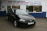 2012 VOLKSWAGEN GOLF 2.0 MATCH TDI BLUEMOTION TECHNOLOGY 5d 138 BHP £7495.00