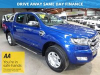 "USED 2016 16 FORD RANGER 2.2 LIMITED 4X4 DCB TDCI 158 BHP-ONE OWNER -NEW MODEL -  ""YOU'RE IN SAFE HANDS"" - AA DEALER PROMISE"