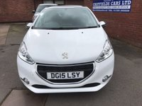 USED 2015 15 PEUGEOT 208 1.2 STYLE 5d 82 BHP ONE LADY OWNER, ONLY 19K MILES