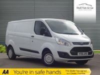 USED 2015 15 FORD TRANSIT CUSTOM 2.2 290 TREND LR P/V 1d 124 BHP 1 OWNER, FSH, BLUETOOTH, LWB