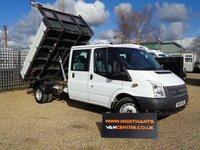 2014 FORD TRANSIT 2.2 350 DRW 4d 125 BHP D/CAB TIPPER 6 SEATS £12990.00