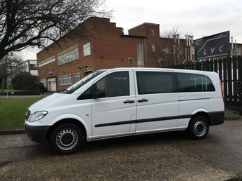 2009 MERCEDES-BENZ VITO TRAVELINER 2.1 109CDI EXTRA LONG 9 SEATER MINIBUS. FSH. FINANCE.  £6990.00