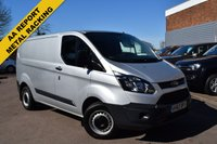 USED 2013 63 FORD TRANSIT CUSTOM 2.2 290 LR P/V 1d 99 BHP A 1 owner December 2013 Ford Transit Custom 290 L1 2.2tdci 100 FWD in silver metallic.