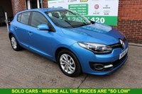 USED 2014 14 RENAULT MEGANE 1.5 DYNAMIQUE TOMTOM ENERGY DCI S/S 5d 110 BHP +Sat Nav +Bluetooth +FREE Tax.