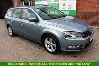 USED 2012 12 VOLKSWAGEN PASSAT 1.6 S TDI BLUEMOTION TECHNOLOGY 5d 104 BHP +Bluetooth +LOW Tax +FSH.